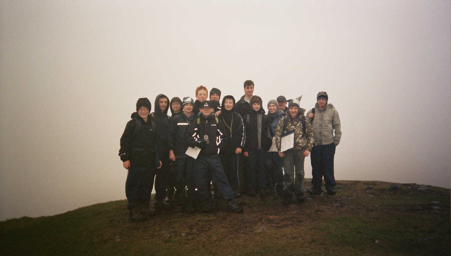 Scouts at the top of Dumgoyne