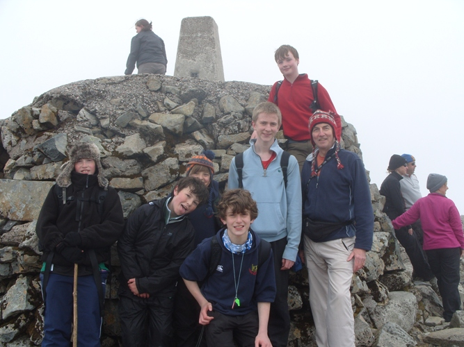 Scouts at the top of Ben Nevis